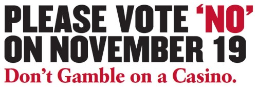 Please Vote NO on November 19